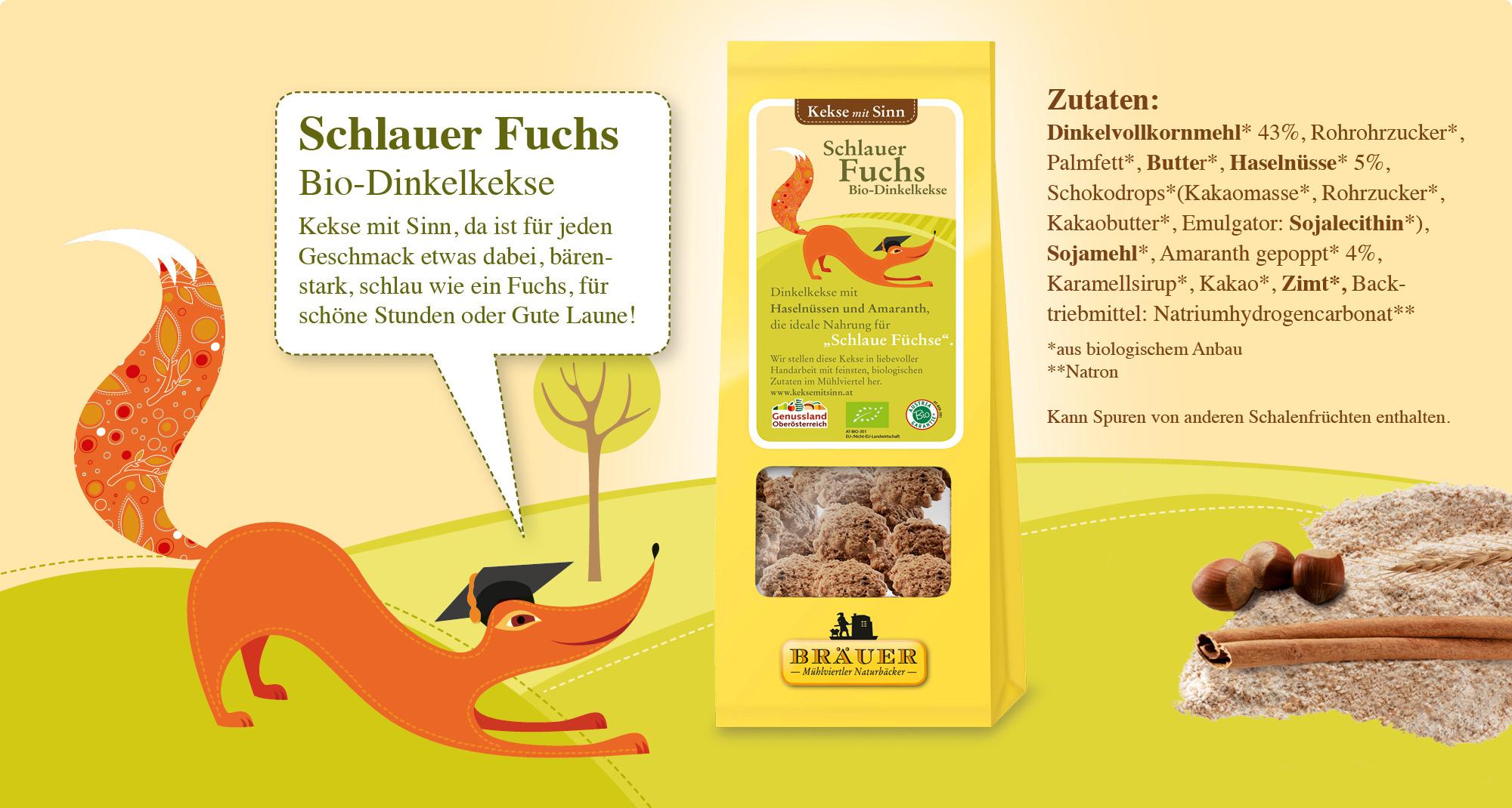Schlauer Fuchs Bio-Dinkelkekse